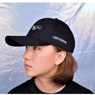 KIITOS I WANT TO Cosmic themed cotton embroidered baseball cap - Genesis God's hand models