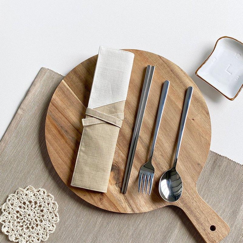 拿鐵  環保餐具組 吸管組 餐具袋 餐具套  客製化繡字