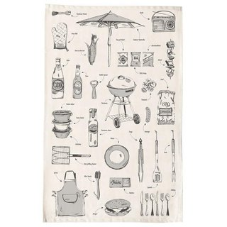 British Egg Organic Cotton Dish Wipes British Barbecue (gray)