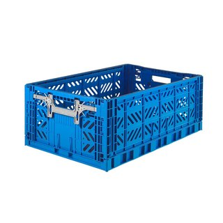 Turkey Aykasa Folding Storage Basket (L) - Hero Blue