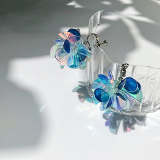<Hydrangea.Blue>Modeling handmade resin earrings/earring/accessories