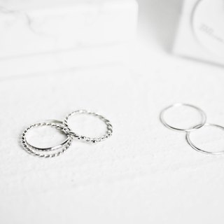 Small garden + minimalist track silver ring mix and match optional 88% OFF bag Little Garden + Classic Ring Goody Bag