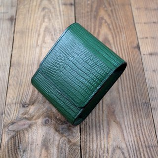APEE Leather Handmade ~ Cigarette Box ~ Lizard Durian Grass Green