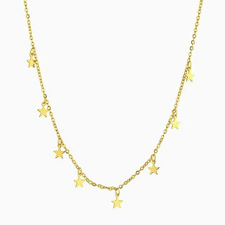 Dazzling Stars Choker Necklace - 14K Gold Filled - Star Choker Necklace