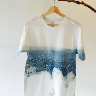 Hand dyed blue dye free isvara Ocean series you are the only marine cotton T-shirt