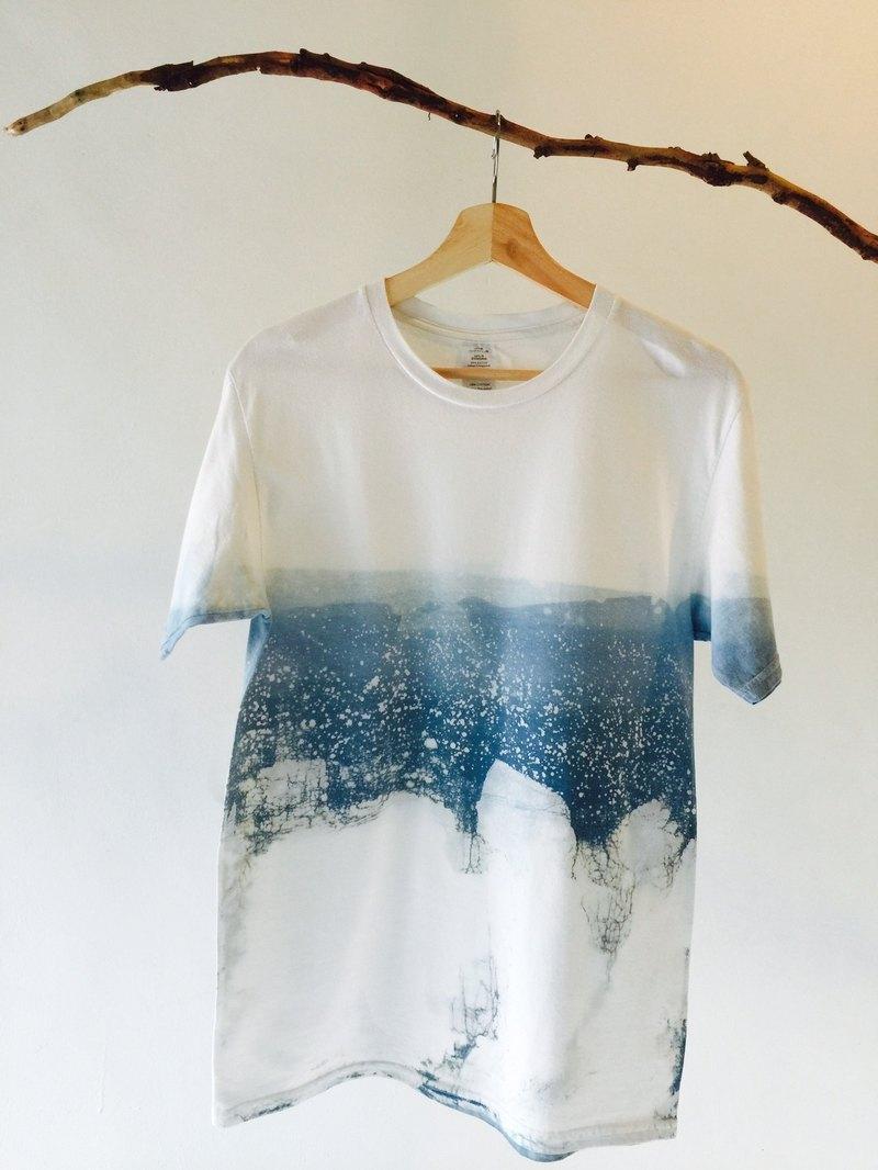 自在染isvara 手工藍染 海洋系列   你是唯一的海洋  純棉T-shirt