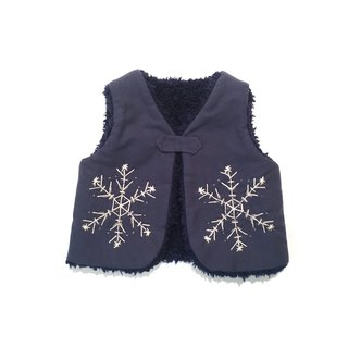 The snowy Babyvest   Navy-blue