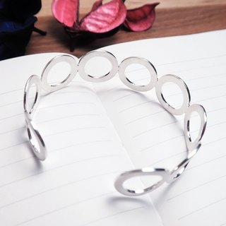 Star Ring Circle Bracelet-925 Sterling Silver C Ring