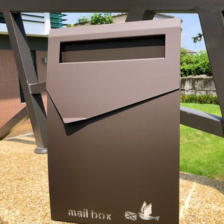 Top-grade stainless steel design letterbox with durable and sophisticated combination of fearless weatherboxes