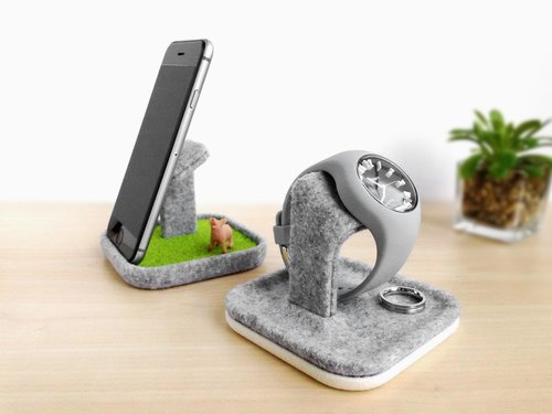multifunctional tray, Watch stand display box holder case, Smartphone stand, Smart phone, apple, iphone, Samsung Galaxy Nexus dock