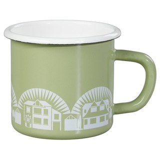 SUSS-UK imported Wild and Wolf country cottage 珐琅 mug (green) --- spot