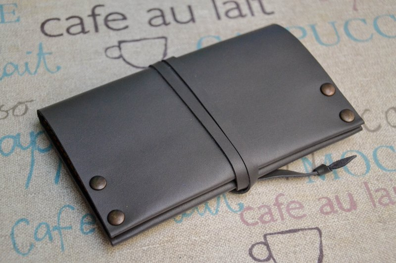 Leather tobacco pouch. Grey leather tobacco pouch. 100% Handmade and hand stitched. Perfect as a gift to tobacco smokers.