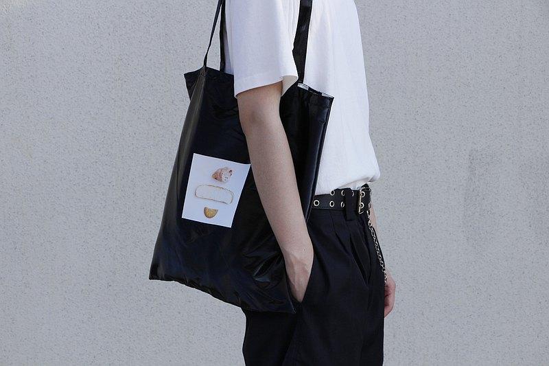 studioHELP維度生活原創設計PU復合防水面料印花手提袋單肩包新品