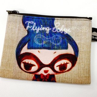 Coin purse [FlyingSofye female snitch Su Fei] illustrations. Can be placed traffic card (double-sided printing)