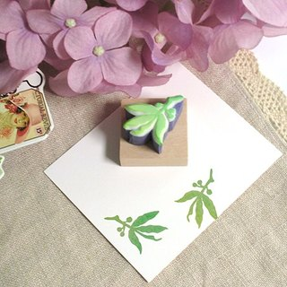 Apu handmade rubber stamps elegant green leaf seal account stamp