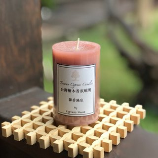 Cypress Habitat Taiwan cypress wood fragrance candle enjoy the natural cypress wood fragrant fragrant room