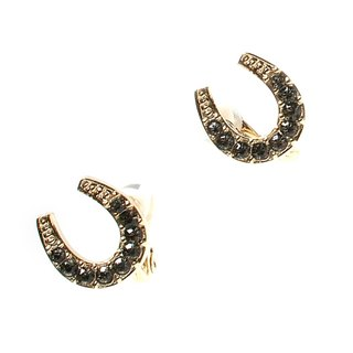 JewCas Air Earrings Horseshoe Crystal Air Ear Clips_JC2513