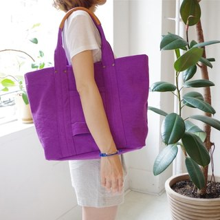 Kurashiki canvas tote bag - Dolce grape