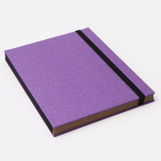 Three summer light years classic solid color strap books section DIY album creative gifts large rectangle (purple)