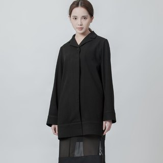 Wool long shirt Black Pyjama Shirt