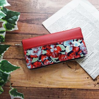 Liberty Pansy Flower Pansy Flower Round Zipper Long Wallet