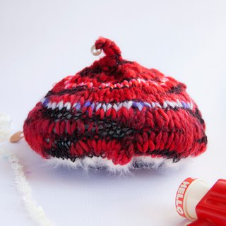 Happy little cold red hat