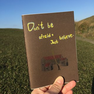 Confidence in the dark notebook / handmade book / hand-stitched diary / travel book / hand account
