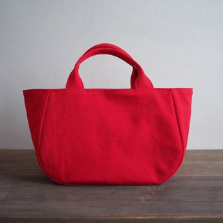 Round tote with lid M red