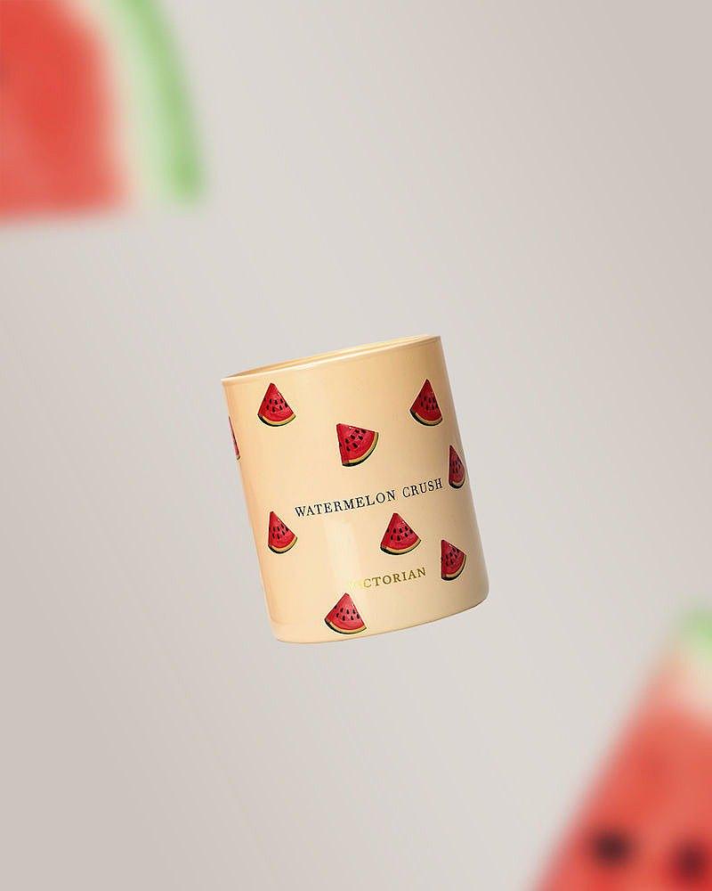 【瑞典VICTORIAN】水果系列 Watermelon Crush 香氛蠟燭 香草與玫瑰