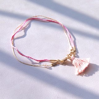 Crossing the border traveler's bracelet - Fuzi pink