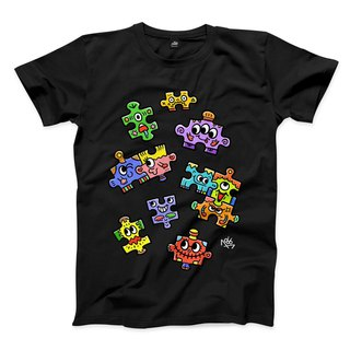PUZZLE - Black - Neutral T-Shirt