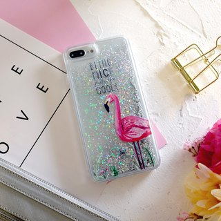 PATTERN LAB | Liquid Glitter Case for iPhone 8/7/6s Plus - Flamimgo