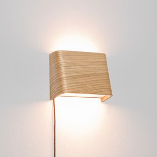 SLICEs LED wooden touch wall lamp ∣ dual light source switch ∣ trapezoid