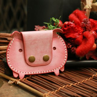 hykcwyre Little Piggy Card Holder Stitching Pack, Leather Card Holder