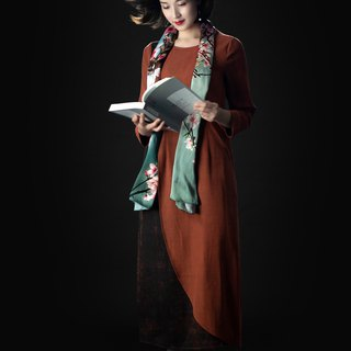 [品祥云纱] 2018 autumn new thick silk silk cloud dress one person's time