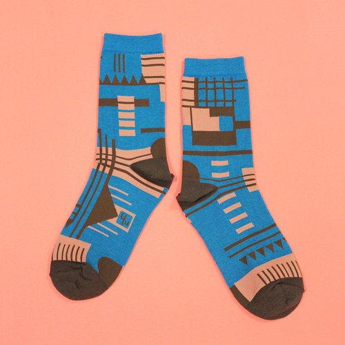 Parkhaus Blue Unisex Crew Socks | mens socks | womens socks | colorful fun socks