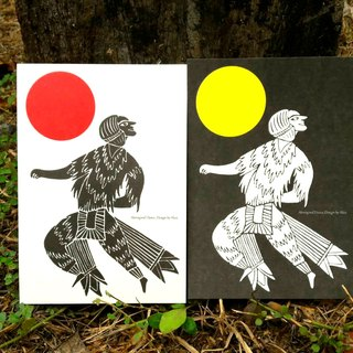 【Day and night focus】 Aboriginal dance‧Card series.