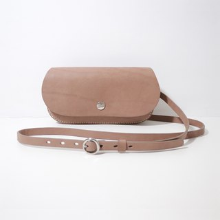 LUCE Hand Sew/Shouldered Leather Sella Wallet Long Shoulder Bag - Camelback