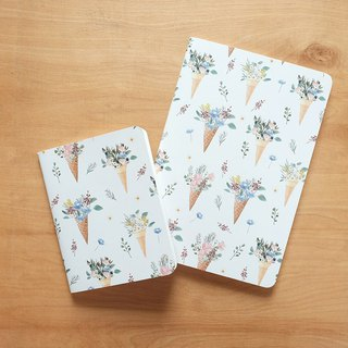 Notebook set : Flower Cones (set of 2)