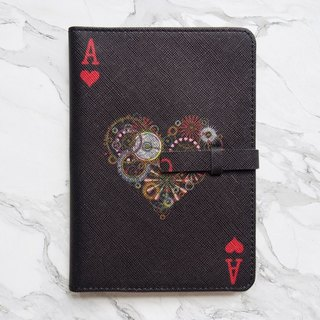 Heart Card Passport Cover Case [Black] - The Magician Collection