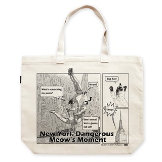 AMO®Original larage shoulder Tote bags/AKE/New York Dangerous Meow's Moment