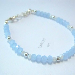 Seaside in Greece - Translucent Blue Bracelet