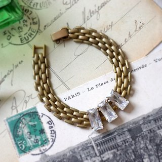 Pursuit of Refining - Rectangular Brass Bracelet