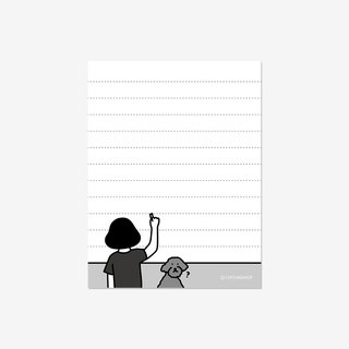 back illustration memo pad (lined)