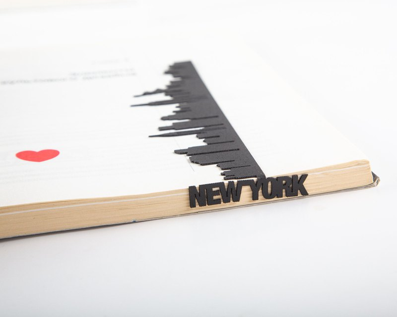 Metal bookmark Cityscape New York // NY love // Free shipping worldwide //