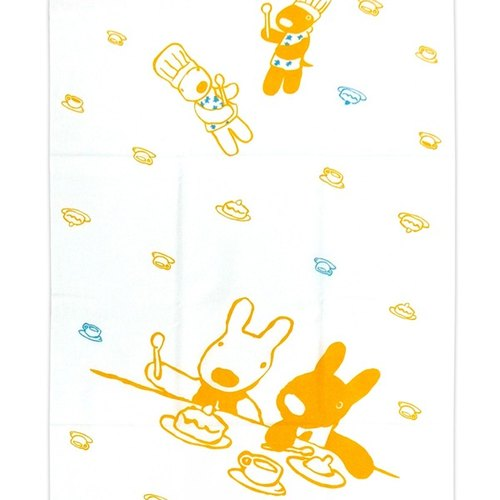 """Lisa and Casper"" and wind handkerchief - snack time (yellow)"