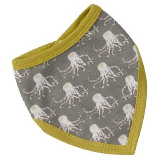 100% organic cotton gray octopus triangle bibs bibs made in the UK series of new products simultaneously listed in Europe and the United States