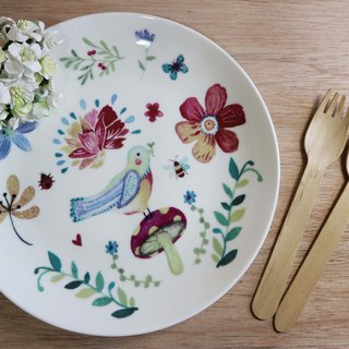 Healing bird / microwave / bone china / by SGS / flower / bird