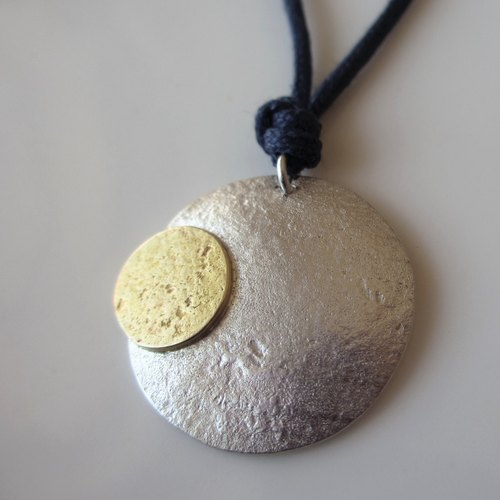 [MOON] Silver/Brass Necklace