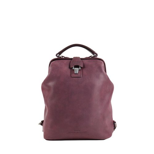 Nurse doctor retro leather backpack - purple